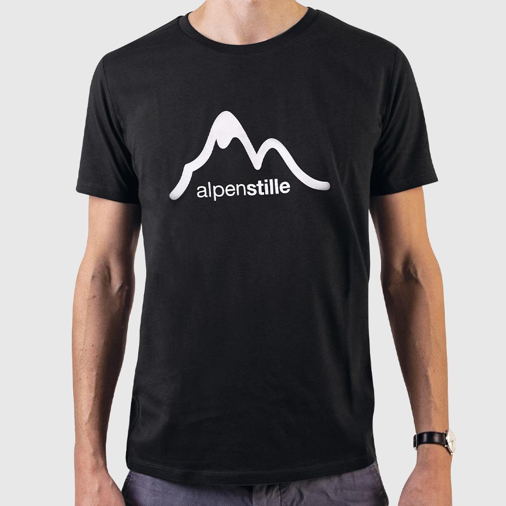 alpenstille_TShirt_Mountain_black